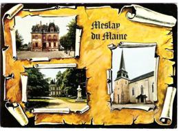53 MAYENNE Carte Multivues Poste Mairie Eglise à MESLAY Du MAINE - Meslay Du Maine