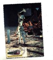 Carte Cachet Hambourg Expo Module Sur Lune Vue  Homme Sur Lune - Marcofilia - EMA ( Maquina De Huellas A Franquear)