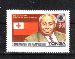 Tonga   -  1983.  Re Tupou IV  E  Bandiera Di Tonga. Flag Of Tonga. MNH - Francobolli