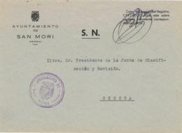 34519. Carta S.N. Franquicia Ayuntamiento SAN MORI (Gerona) 1959. Marca Circular Alcaldia - 1931-Hoy: 2ª República - ... Juan Carlos I