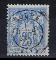 TIMBRE SAGE N° 68 (TYPE 1 N/B) OBLITÉRÉ Avec VERSO SANS DÉFAUT CAD RODEZ AVEYRON - 1876-1878 Sage (Type I)