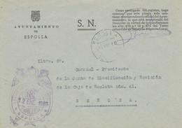 34520. Carta S.N. Franquicia Ayuntamiento ESPOLLA (Gerona) 1960. Fechador Espolla - 1931-Hoy: 2ª República - ... Juan Carlos I