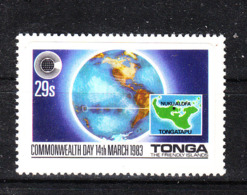 Tonga   -  1983.  Geografia Di Tonga Su Globo Terrestre. Geography Of Tonga On The Earth Globe. MNH - Geografia