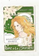 Cp, Bourses & Salons De Collections,foire à La Brocante ,44 ,  BOURGNEUF EN RETZ ,1987,n°88 Sur Tirage 1000 Ex. - Borse E Saloni Del Collezionismo