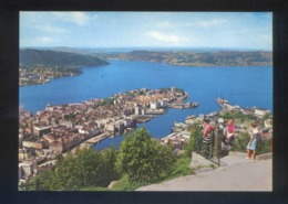 Bergen. *View Of The Town And The Fjord From Mount Floyen* Nueva. - Noruega