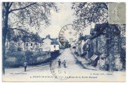 Cpa...pontchateau...(loire-inf.)...la Route De La Roche-bernard...animée...1922.... - Pontchâteau