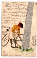 KIRCHNER - Jeune Fille Et Bicyclette ( Lady And Bicycle - Litho ART ) -1901- RARE - BE - Kirchner, Raphael