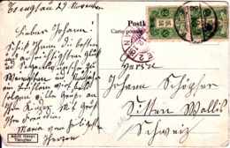 "TSINGTAU  1919  ""HARBOUR HOTEL"" POSTED JAPAN OFFICE 2 SEN PAIR To SWITZERLAND - Japon"