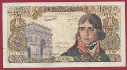 "100 NF ""Bonaparte"" Du 01/12/1960.D-----F/TTB+--ALPH. T.92 - 1959-1966 Franchi Nuovi"