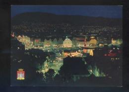 Bergen. *View Of The Town By Night* Nueva. - Noruega