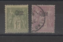Chine _1894- 1F Vert +5 F Violet N °10 /11 - Other