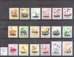 """République Du Congo : N° 382/99 ** MNH """"Fleurs 1952"""" Surchargés CONGO Cote COB : 80,00 €. - Republic Of Congo (1960-64)"""