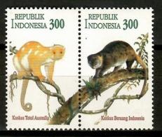 Indonesia 1996 / Fauna Mammals Monkeys Joint Issue Australia MNH Mamíferos Monos Säugetiere / Cu12404  2-10 - Sellos
