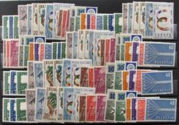 Tema Europa Año 1957(5) + Alemania RF 166(5) ** - Europa-CEPT