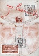 48852 Italia, Special Postmark On Special Card  2019, Barge, Homo Sine Tempore, Leonardo Da Vinci - Arte