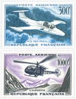 Ref. 297610 * HINGED *  - FRANCE . 1957. AIRCRAFTS. AVIONES - France