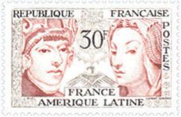 Ref. 121378 * NEW *  - FRANCE . 1956. FRIENDSHIP FRANCE-LATIN AMERICA. AMISTAD FRANCIA-AMERICA LATINA - Nuevos