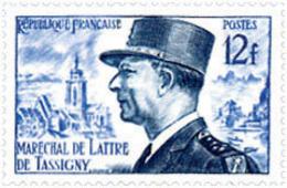 Ref. 121319 * NEW *  - FRANCE . 1954. MARSHAL DE LATTRE DE TASSIGNY. MARISCAL DE LATTRE DE TASSIGNY - Francia