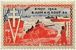 Ref. 41067 * NEW *  - FRANCE . 1954. 10th ANNIVERSARY OF LIBERATION. 10 ANIVERSARIO DE LA LIBERACION - Francia