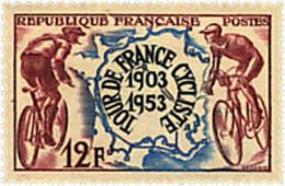 Ref. 65490 * NEW *  - FRANCE . 1953. 50th ANNIVERSARY OF BICYCLE TOUR DE FRANCE. 50 ANIVERSARIO DE LA VUELTA CICLISTA A - Francia