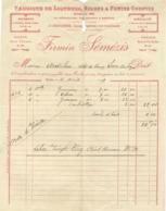 Tarbes Fabrique De Liqueurs ,Sirops & Fruits Confits Fiemin Séméris 4 Aout 1919 Magasin Rue Thiers 44 Fabrique Rue Des P - Frankreich