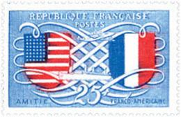 Ref. 121221 * NEW *  - FRANCE . 1949. FRANCO-AMERICAN FRIENDSHIP . AMISTAD FRANCO-AMERICANA - Francia