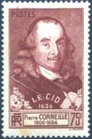 """Ref. 120376 * NEW *  - FRANCE . 1937. 3rd CENTENARY OF """"EL CID"""" PUBLICATION. 3 CENTENARIO DE LA TRAGEDIA """"EL CID"""" - Nuevos"""