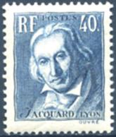 Ref. 120285 * NEW *  - FRANCE . 1934. CENTENARY OF THE DEATH OF JOSEPH MARIE JACQUARD. CENTENARIO DE LA MUERTE DE JOSEPH - Nuevos