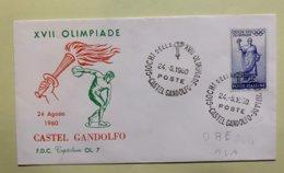 9090 - IItalia Giochi Della XVII Olimpiade Castel Gandolfo 24.08.1960 - Sommer 1960: Rom