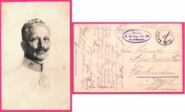 Kaiser Wilhelm II - Oblit. S.P. 17 INF REGT N° 183 11 KOMPAGNIE FELD POSTSTATION N° 50 - Edit. HANS FRIEDRICH - Familias Reales