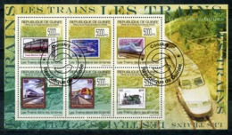 GUINEA 2009 G201 Transport-Trains. Railway. Stamps On Stamps. Locomotives - Trains