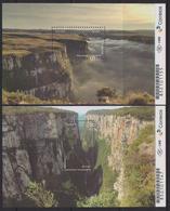 BRAZIL, 2018, MNH, CANYONS, LANDSCAPES, 2 S/SHEETS, BEAUTIFUL! - Geology