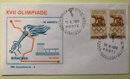 9093 - Italie  Giochi Della XVII Olimpiade Siracusa 18.08.1960 Parcours De La Flamme - Sommer 1960: Rom