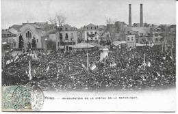 Vichy:Inauguration De La Statue De La République - Vichy