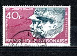 GABON  PA N° 145  OBLITERE  COTE 1.00€    CONFERENCE DE BRAZZAVILLE - Gabun (1960-...)