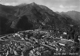 Cartolina Varallo Sesia Panorama 1956 Timbro Sacro Monte - Vercelli