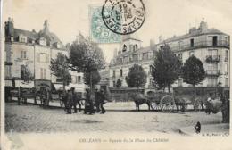 CPA. ORLEANS. SQUARE DE LA PLACE DU CHÂTELET. - Orleans