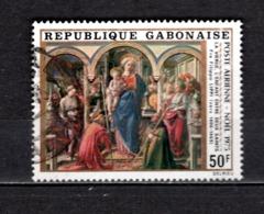 GABON  PA N° 171  OBLITERE  COTE 0.60€    NOEL TABLEAUX - Gabun (1960-...)