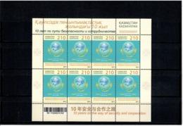 Kazakhstan 2011 . Shanghai Cooperation Org. Sheetlet Of 8.   Michel # 706  KB - Kazakhstan