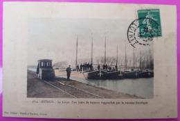Cpa Estrun Rame De Peniche Rapprochée Par Le Tracteur Electrique Carte Postale 59 Nord Rare Proche Cambrai Bouchain - France