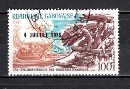 GABON  PA N° 181  OBLITERE  COTE 0.80€    BICENTENAIRE DES ETATS UNIS - Gabun (1960-...)