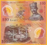 Brunei 10 Ringgit P-37 2011 UNC Polymer Banknote - Brunei