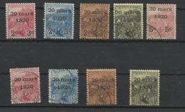 Monaco N° 34 à 42 Année 1920 Neuf Avec Charnière Ou Oblitéré - Monaco