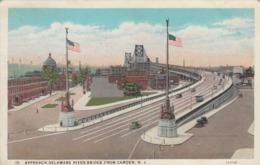 Camden NJ - Delaware River Bridge Postcard - Camden