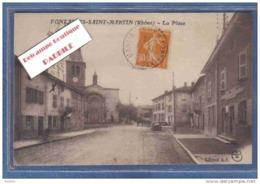 D69. Fontaines-Saint-Martin  La Place Trés Beau Plan - Otros Municipios