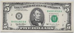 USA 5 Dollars 1995 B AUNC # P- 498 B - New York NY - Biljetten Van De  Federal Reserve (1928-...)