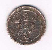 2 ORE  1876  ZWEDEN /8394/ - Schweden