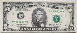USA 5 Dollars 1993 B AUNC # P- 491 B - New York NY - Federal Reserve Notes (1928-...)