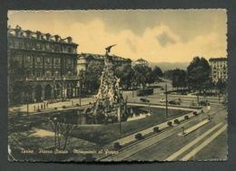 TORINO - PIAZZA STATUTO MONUMENTO AL FREJUS - VIAGGIATA CON AFFRANCATURA 1951 - ANGOLI ROVINATI - 088 - Places