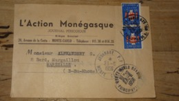 MONACO : Devant De Bande De Journal De 1956 ….................… NZ - Monaco